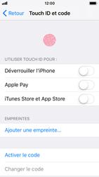 Apple iPhone 5s - iOS 11 - Sécuriser votre mobile - Activer le code de verrouillage - Étape 4