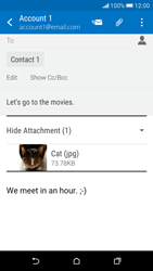 HTC Desire 626 - Email - Sending an email message - Step 18