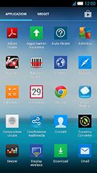 Alcatel One Touch Idol S - Operazioni iniziali - Installazione di widget e applicazioni nella schermata iniziale - Fase 4