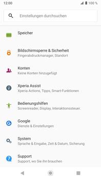 Sony Xperia XZ2 Premium - Android Pie - Fehlerbehebung - Handy zurücksetzen - Schritt 6