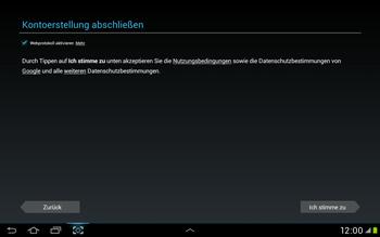 Samsung Galaxy Tab 2 10.1 - Apps - Einrichten des App Stores - Schritt 12