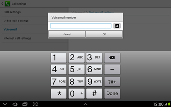 Samsung N8000 Galaxy Note 10-1 - Voicemail - Manual configuration - Step 9