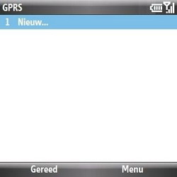 Samsung B7330 Omnia Pro - internet - handmatig instellen - stap 6