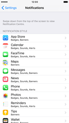 Apple iPhone 6s iOS 10 - iOS features - Customise notifications - Step 4