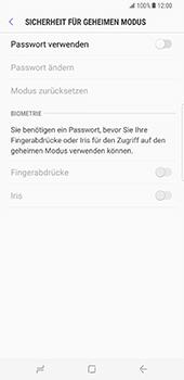 Samsung Galaxy S8 Plus - Datenschutz und Sicherheit - Datenschutzeinstellungen des Browsers ändern - 11 / 18