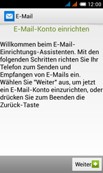 Alcatel Pop C3 - E-Mail - Konto einrichten - 1 / 1