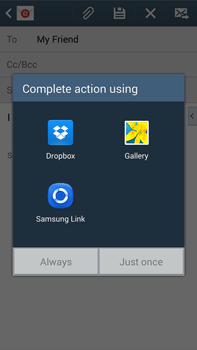 Samsung N9005 Galaxy Note III LTE - E-mail - Sending emails - Step 12