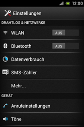Sony Xperia E - Netzwerk - Netzwerkeinstellungen ändern - Schritt 4