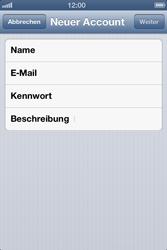 Apple iPhone 4 - E-Mail - Konto einrichten - Schritt 8