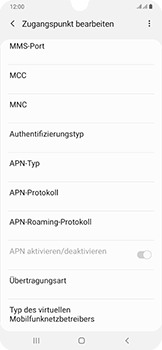 Samsung Galaxy A50 - MMS - Manuelle Konfiguration - Schritt 12