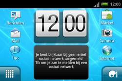 HTC A810e ChaCha - Internet - Voorbeelden van mobiele sites - Stap 1
