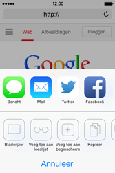 Apple iPhone 4 iOS 7 - internet - hoe te internetten - stap 5