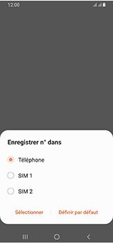 Samsung Galaxy A40 - Contact, Appels, SMS/MMS - Ajouter un contact - Étape 6