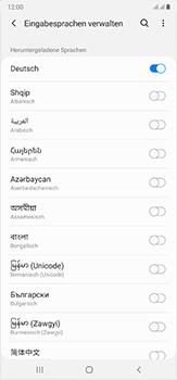 Samsung Galaxy Note 20 Ultra 5G - Startanleitung - So fügen Sie eine Tastatursprache hinzu - Schritt 11
