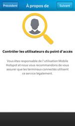 BlackBerry Z10 - Internet et connexion - Partager votre connexion en Wi-Fi - Étape 8