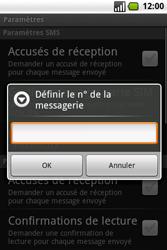 Samsung I7500 Galaxy - SMS - Configuration manuelle - Étape 6