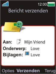 Sony W595 - E-mail - E-mails verzenden - Stap 15