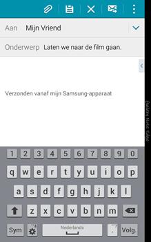 Samsung Galaxy Note Edge - e-mail - hoe te versturen - stap 9