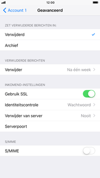 Apple iPhone 6 Plus - iOS 11 - E-mail - Account instellen (POP3 zonder SMTP-verificatie) - Stap 22