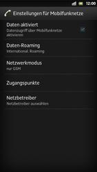 Sony Xperia S - Internet und Datenroaming - Deaktivieren von Datenroaming - Schritt 6