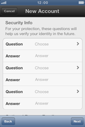 Apple iPhone 4 S - Applications - Create an account - Step 9