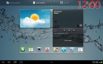 Samsung Galaxy Tab 2 10.1 - Startanleitung - Installieren von Widgets und Apps auf der Startseite - Schritt 9