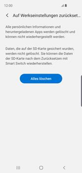 Samsung Galaxy S10e - Gerät - Zurücksetzen auf die Werkseinstellungen - Schritt 8