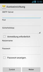 ZTE Blade III - E-Mail - Manuelle Konfiguration - Schritt 11
