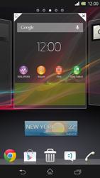 Sony Xperia Z - Operazioni iniziali - Installazione di widget e applicazioni nella schermata iniziale - Fase 5