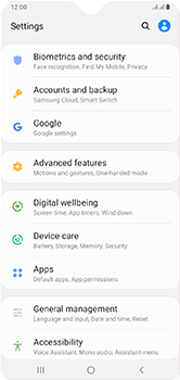 Samsung Galaxy A10 - Device - Enable Find my Phone - Step 4