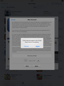Apple iPad Air - Applications - Setting up the application store - Step 11