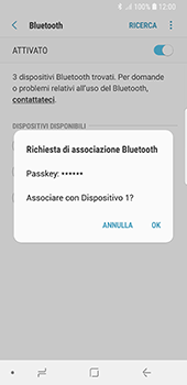 Samsung Galaxy S8 - Android Oreo - Bluetooth - Collegamento dei dispositivi - Fase 8