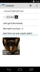 Acer Liquid Jade S - E-mail - Sending emails - Step 16