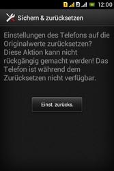 Sony Xperia Tipo Dual - Fehlerbehebung - Handy zurücksetzen - 9 / 11