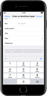 Apple iPhone SE - iOS 11 - Applications - Créer un compte - Étape 17