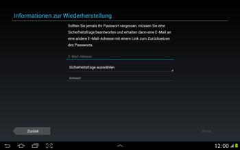 Samsung N8000 Galaxy Note 10-1 - Apps - Konto anlegen und einrichten - Schritt 10