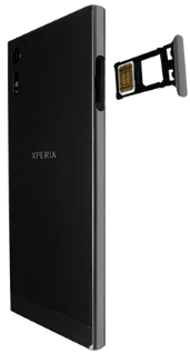 Sony Xperia XZ - Android Nougat - SIM-Karte - Einlegen - Schritt 4