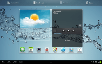 Samsung Galaxy Tab 2 10.1 - Getting started - Installing widgets and applications on your start screen - Step 7