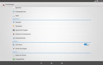 Sony Xperia Tablet Z2 LTE - Gerät - Zurücksetzen auf die Werkseinstellungen - Schritt 4