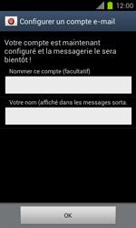 Samsung Galaxy S II - E-mail - Configuration manuelle - Étape 16