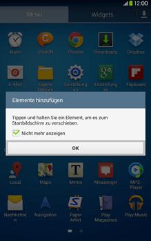Samsung Galaxy Tab 3 8-0 LTE - Startanleitung - Installieren von Widgets und Apps auf der Startseite - Schritt 5