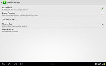 Samsung Galaxy Tab 2 10.1 - Internet und Datenroaming - Deaktivieren von Datenroaming - Schritt 7
