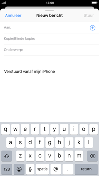 Apple iPhone 6 Plus - iOS 11 - E-mail - E-mails verzenden - Stap 4