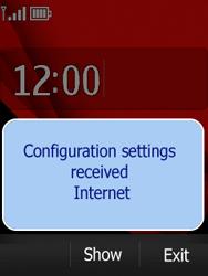 Nokia Asha 300 - Settings - Configuration message received - Step 13