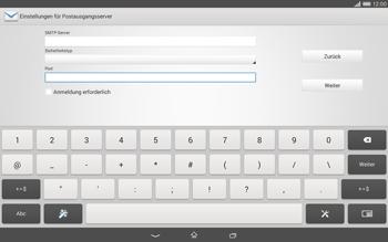 Sony Xperia Tablet Z2 LTE - E-Mail - Konto einrichten - Schritt 14