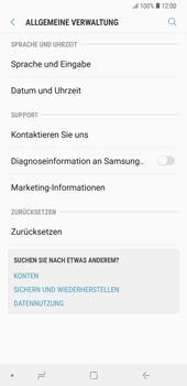 Samsung Galaxy Note9 - Fehlerbehebung - Handy zurücksetzen - 7 / 12