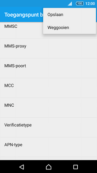 Sony E6853 Xperia Z5 Premium - MMS - handmatig instellen - Stap 15
