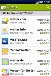 Sony Ericsson Xperia X8 - Apps - Herunterladen - 12 / 22