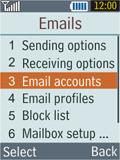 Samsung B2100 Xplorer - E-mail - Manual configuration - Step 8