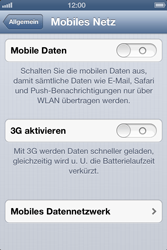 Apple iPhone 4 - Internet und Datenroaming - Manuelle Konfiguration - Schritt 5